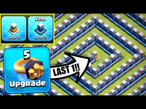 THE END Of Level 13 WALLS In Clash Of Clans! 🔥🔥🔥