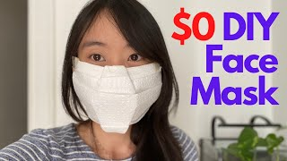 How to make a NO SEW DIY FACE MASK - $0 Quick & Easy Tutorial