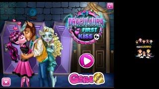 Draculaura First Kiss | Monster High Draculara and Clawd Kiss | KidsGaming | Draculaura First Kiss