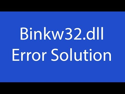 Fix binkw32. Dll error free guide youtube.