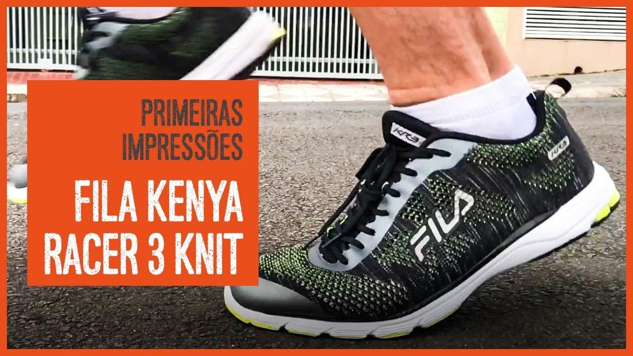 83d0b19da48 Fila Kenya Racer 3 Knit – Primeiras impressões - YouTube