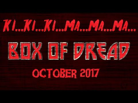 Box of Dread Unboxing  Curated by Kristina Klebe October 2017  Friday the 13th theme