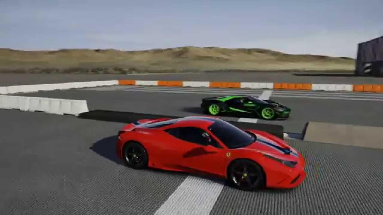 Ferrari  S Vs  Ford Gt In A Full Mile Run And   Forza Motorsport