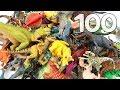 1 To 100 Dinosaur Toys! Mini Dino, Schleich, Takara Tomy Dinosaur Names Learning Video