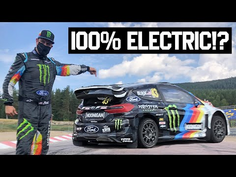 Ken Block Tests & HOONS The Worlds First All Electric Rally Cross Car!