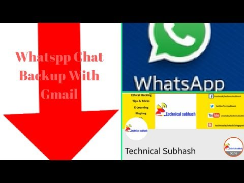 How To Email Whatsapp Chat History And Mail & Other Person