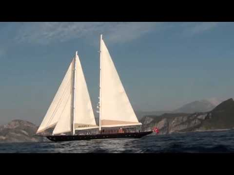 185' Yacht Regina Sailing on the Coast of Turkey