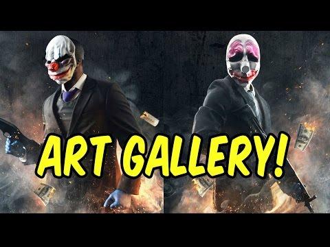 PAYDAY 2 Gameplay PC - Art Gallery Heist Multiplayer Co-op Let's Play! - Part 2 | xxSnEaKyGxx
