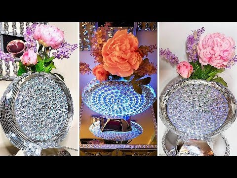 Diy Mirror Vase with Lighting| Quick and Easy Home Decor idea!