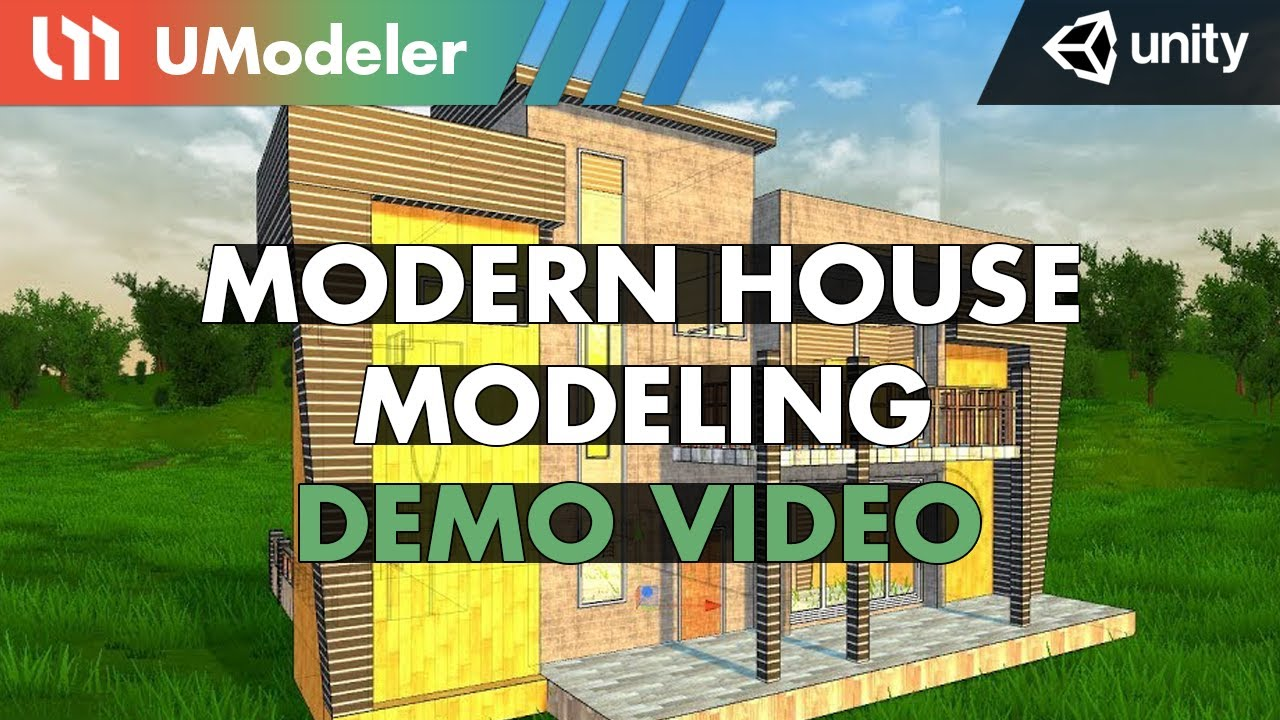 Modern House Modeling with UModeler in Unity