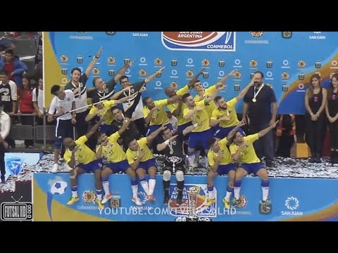 JOGO COMPLETO Brasil 4x2 Argentina - FINAL Copa América de Futsal 2017 (12/04/2017)