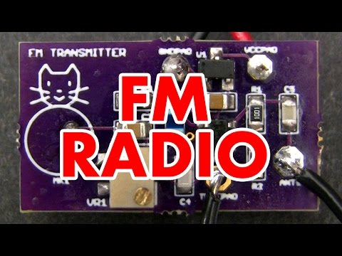 Frequency Modulation tutorial & FM radio transmitter circuit