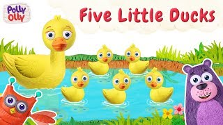 five little ducks | 5 little ducks | Nursery Rhyme for kids | Polly Olly