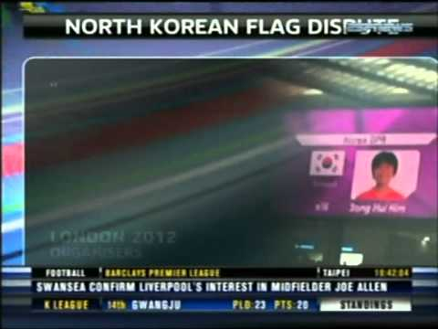 OLIMPIC GAMES LONDON 2012 : North Korea flag row: