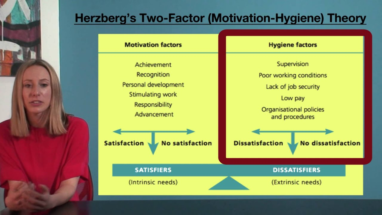 Vce business management herzberg s two factor motivation hygiene theory youtube