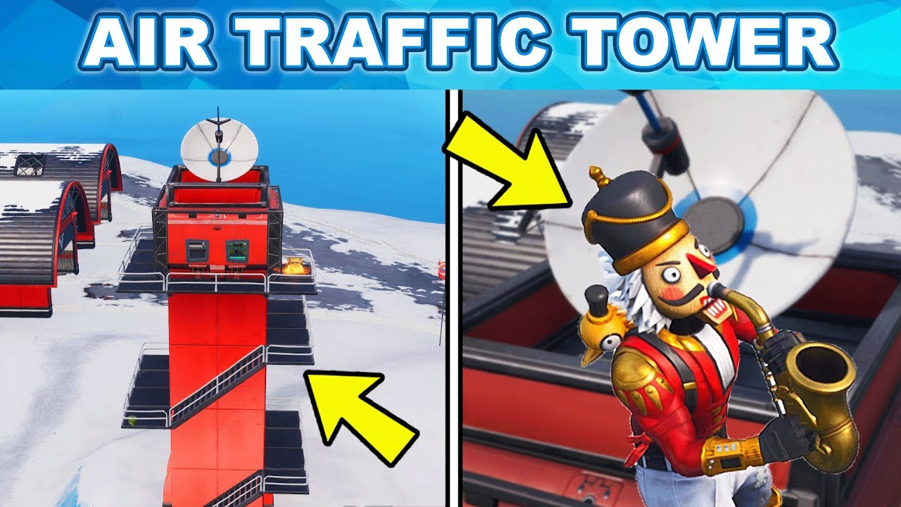 dance on top of an air traffic control tower location week 5 challenges fortnite - air traffic control center locations fortnite