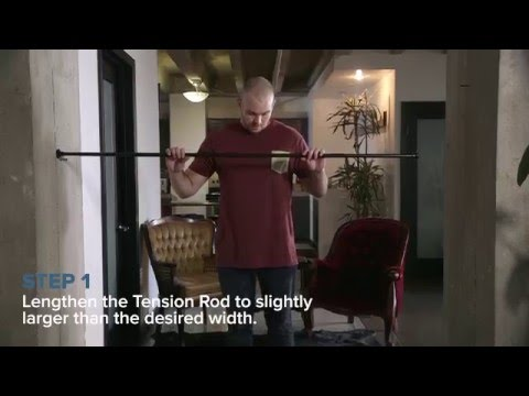 tension rod room divider kit how to video divideandconquer youtube. Black Bedroom Furniture Sets. Home Design Ideas