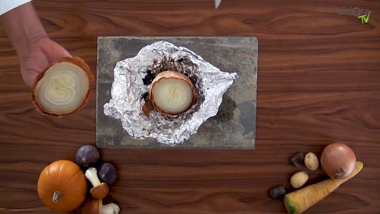 Oignon en cocotte et ses légumes croquants