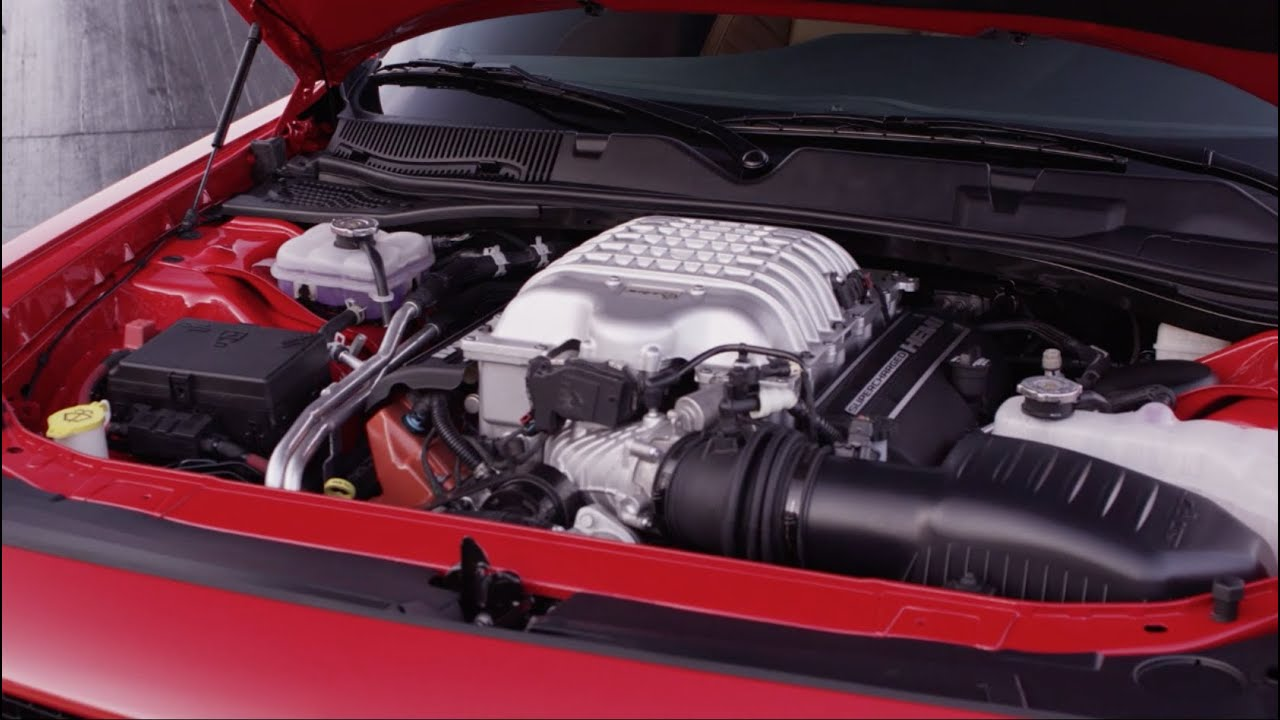 2015 Dodge Challenger SRT Hellcat  Supercharged Engine and