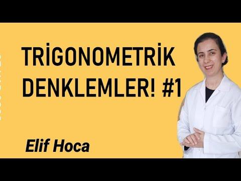 TRİGONOMETRİK DENKLEMLER! #1 TRİGONOMETRİ