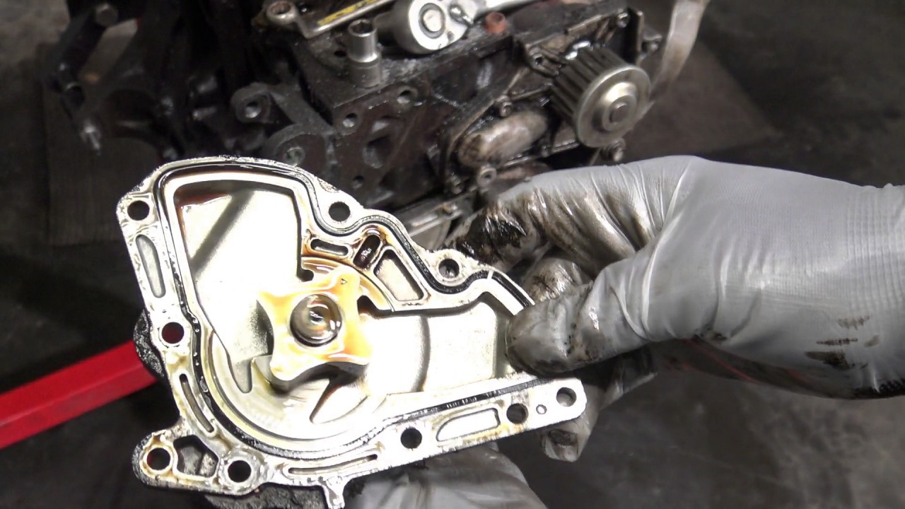 How to replace oil pump Toyota 5SFE engine  YouTube