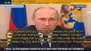 Putin zur verbrecherischen Großoffensive von Kiew -
