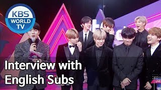 Interview with BTS (방탄소년단) [2019 KBS Song Festival / ENG / 2019.12.27]
