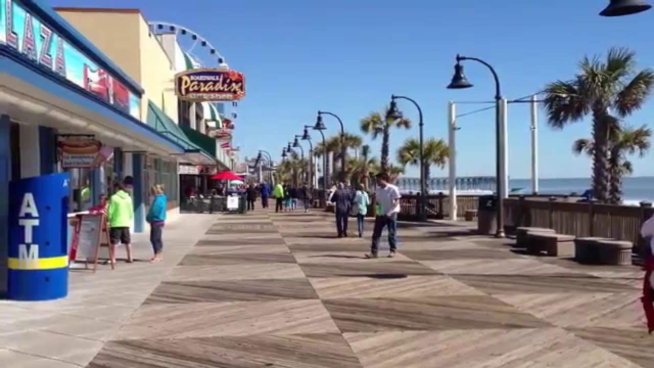 Walk On The Myrtle Beach Boardwalk