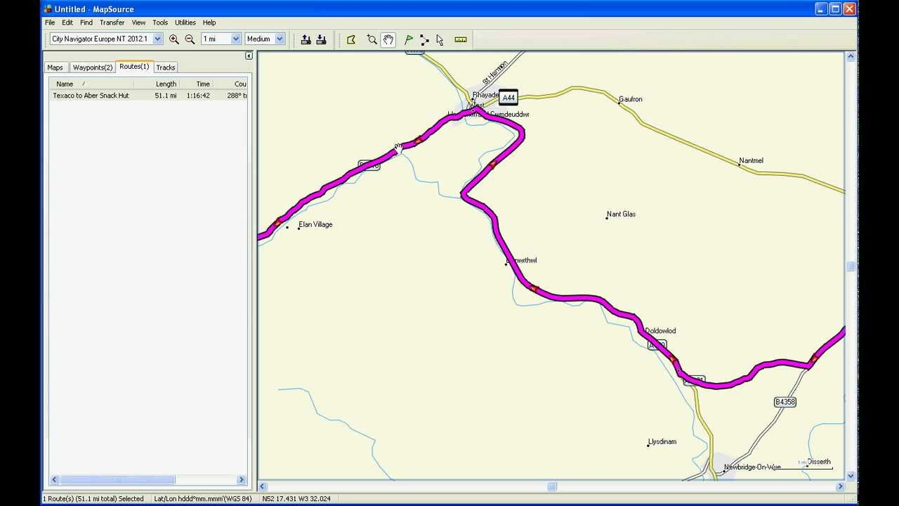 producing a basic route using garmin mapsource. producing a basic route using garmin mapsource  youtube