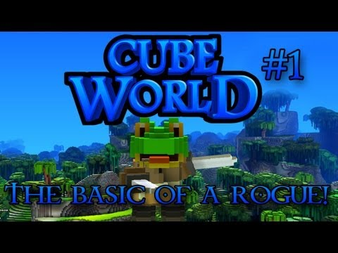 Cube World Lets Play Episode 1 - The Basics of a Rogue!