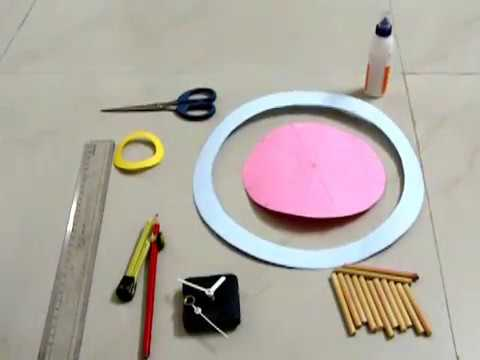 DIY : How To Make Wall Clock Using Card Paper