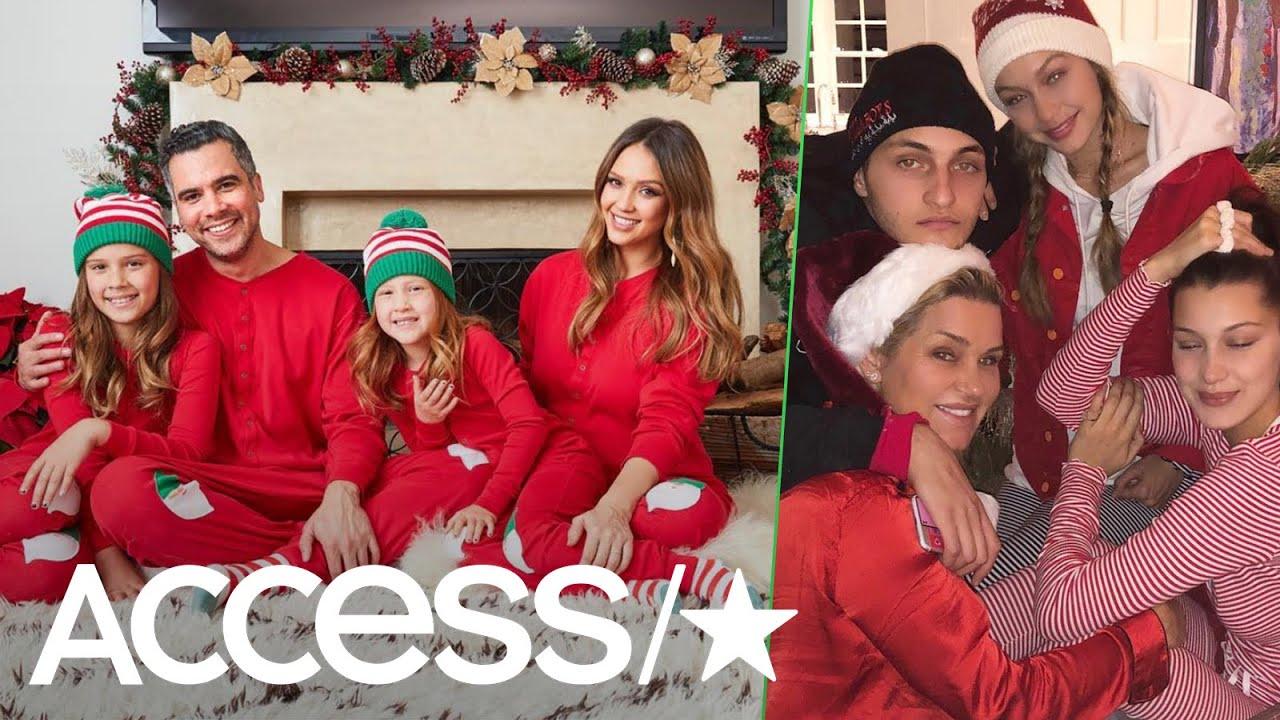 Jessica Alba, Gigi Hadid & More Stars Rock Matching Christmas ...