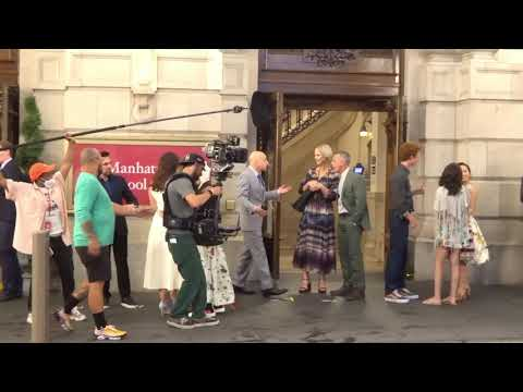 Cynthia Nixon, Sarah Jessica Parker, Kristin Davis film music school scene for 'And Just Like That'