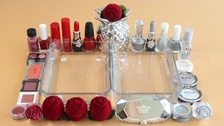 Download Mixing'Rose vs Silver'Eyeshadow,Makeup and glitter Into Slime! Satisfying Slime Video. Mp3 and Videos
