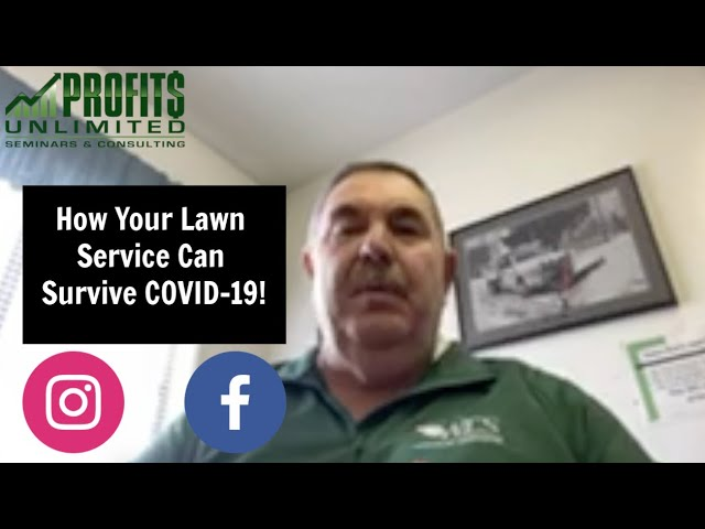 How Your Lawn Service Can Survive COVID-19!