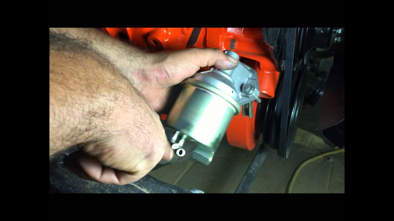 how to install chevelle fuel pump big block 454  YouTube