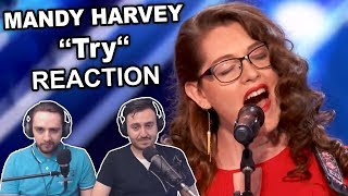 """Mandy Harvey - Try"" Singers Reaction"