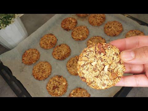 كوكيز-بالشوفان-و-المكسرات-صحي-بدون-سكر-يحضر-في-دقائق/cookies-aux-flocons-d'avoine-healthy-sans-sucre