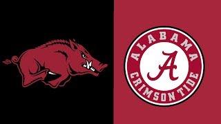 Week 6 2018 #1 Alabama vs Arkansas Full Game Highlights