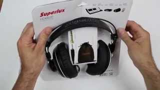Superlux HD-662 F Headphones Auriculares Unboxing desembalaje thomann thooman