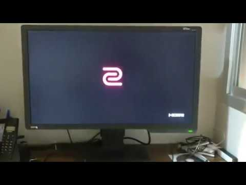 Básico do básico monitor Benq XL2411z - Configurando 144hz - 1ms