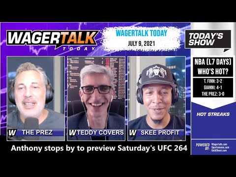 Free Sports Picks | MLB Picks | UFC 264 Betting Preview | WagerTalk Today | July 9