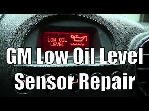 GM Low Oil Level Warning Sensor Repair How to Fix DIY