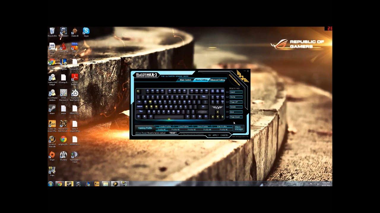 Armaggeddon Macro Programming Tutorial For Black Hornet Mka 3 Gaming Keyboard 3c Psychfalcon
