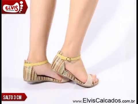 41182fd95 Sandália Anabela Baixa Ramarim Total Comfort 14-15202 Amendoa/Amarelo -  YouTube