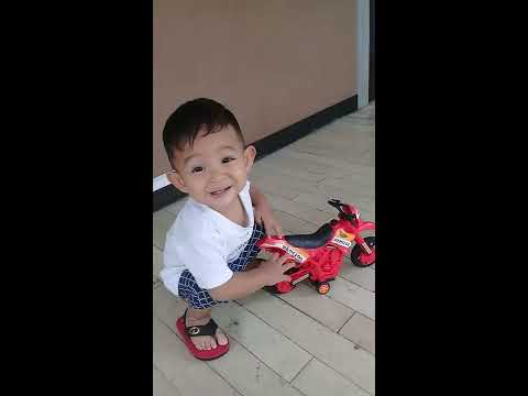 Funny Baby with his MotorBike