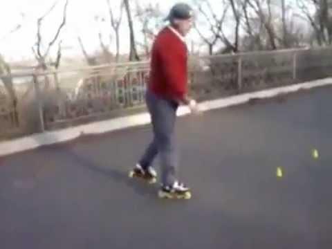 Incredibile – Un signore attempato sui rollerblade