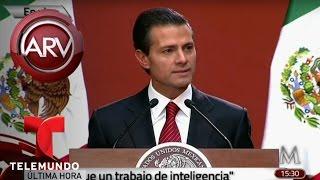 Conferencia de prensa sobre captura del Chapo Guzmán | Al Rojo Vivo | Telemundo