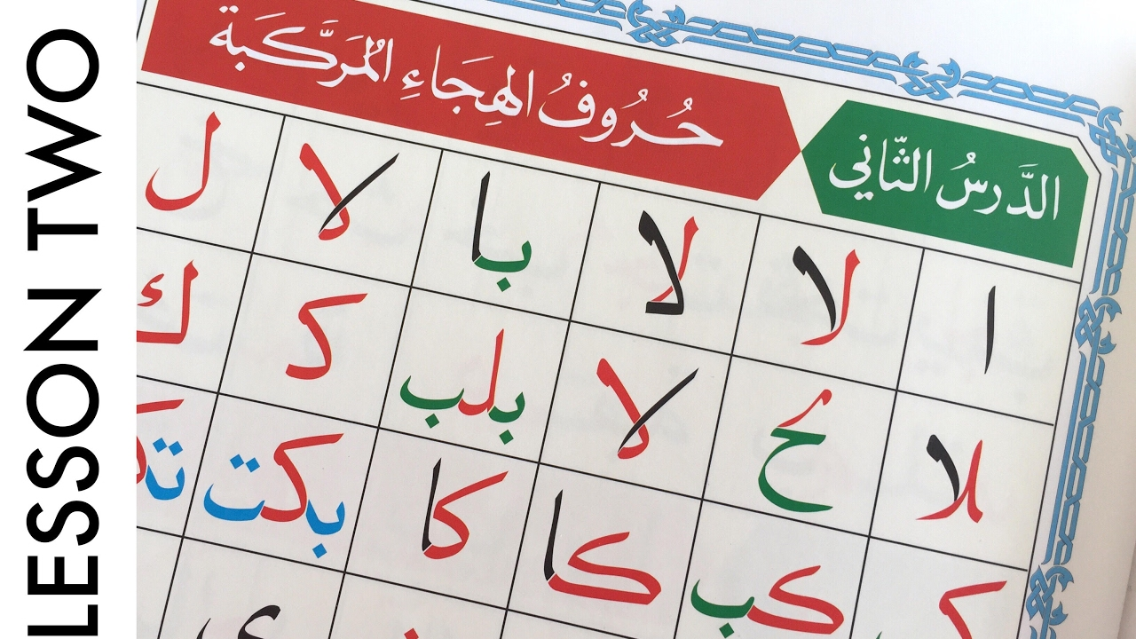 lesson two recognizing beginning middle and end of the arabic alphabet