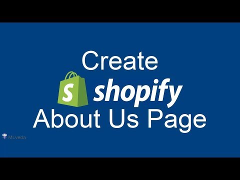 """How to Create """"About Us"""" page on Shopify 